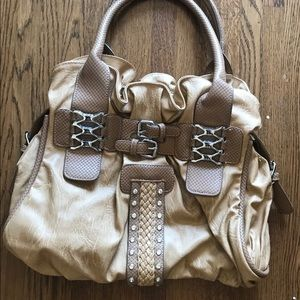 Beautiful gold/khaki Satchel Purse